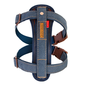 EZYDOG POSTROJ CHEST PLATE HARNESS + CAR RESTRAINT 2 - Postroj pre psa  - DENIM